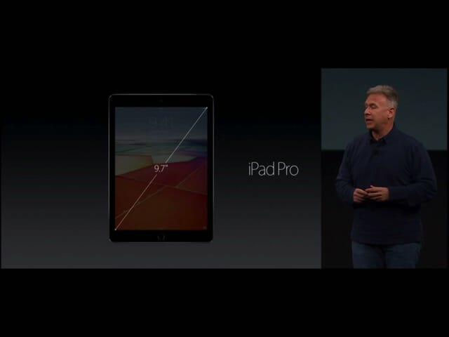 AppleSpecialEvent20160321iPadPro9 7インチ
