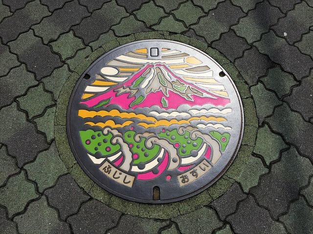 富士市マンホールカードカラーマンホール