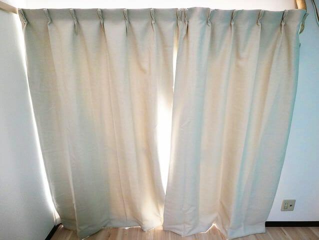 無印良品カーテン設置完了