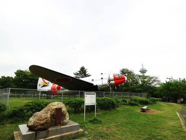 所沢航空記念公園 航空発祥の地C 46中型輸送機 天馬