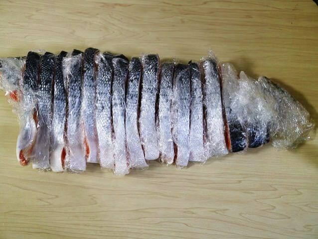 コストコ定塩銀鮭小分けラップ