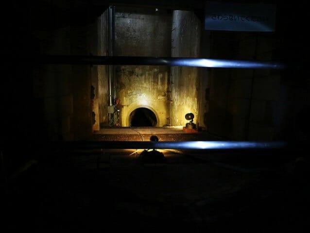 旧三河島汚水処分場ポンプ場施設3ヴェンチュリー管