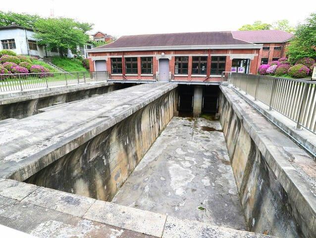 旧三河島汚水処分場ポンプ場施設2沈砂池