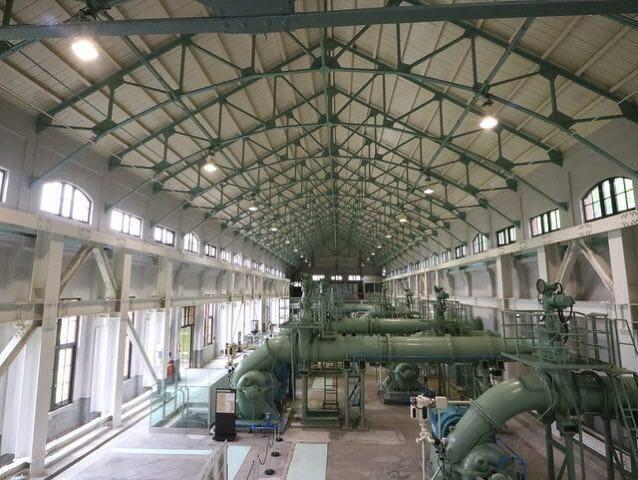旧三河島汚水処分場ポンプ場施設7喞筒室