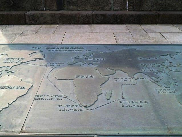 ペリー公園記念碑黒船航路