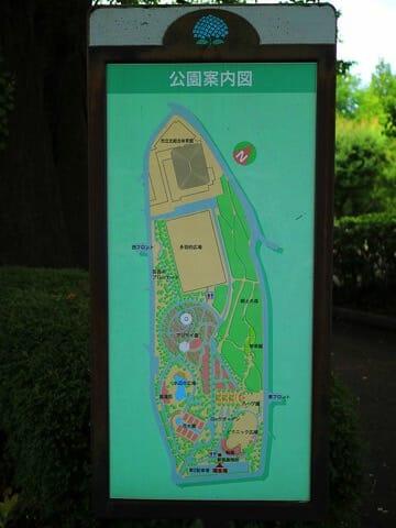 相模原北公園案内図