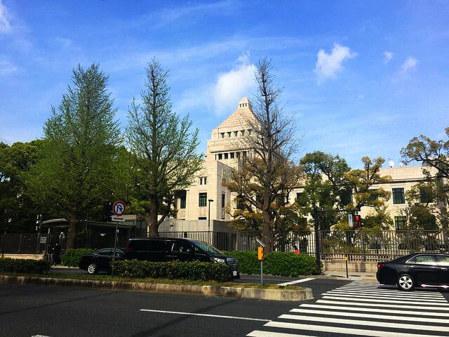 国会議事堂西面