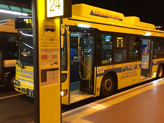 空港第2ビル駅から第3ターミナル550m連絡バス