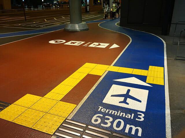 空港第2ビル駅から第3ターミナル630m