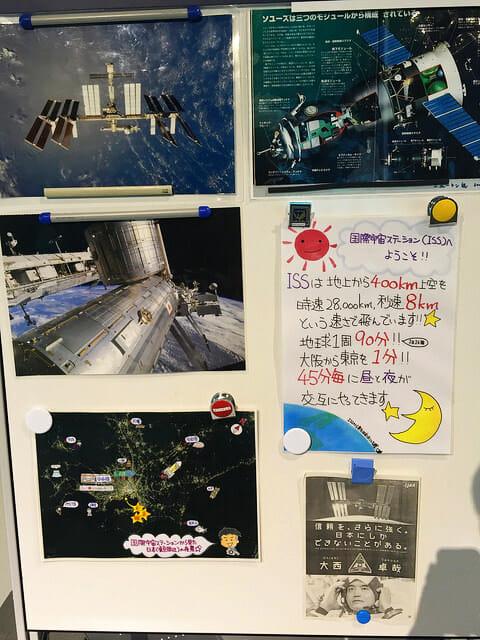 日本科学未来館 5階国際宇宙ステーション入口説明