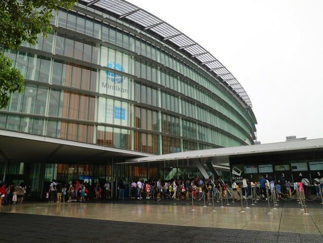 日本科学未来館 建物入口チケット売場