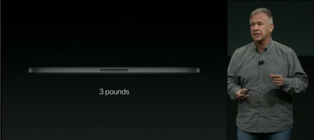 AppleSpecialEventOctoer2016MacbookPro13重さ
