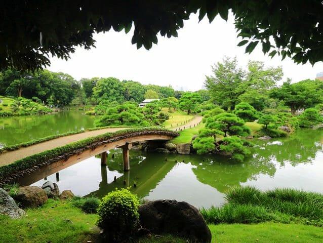 清澄庭園内