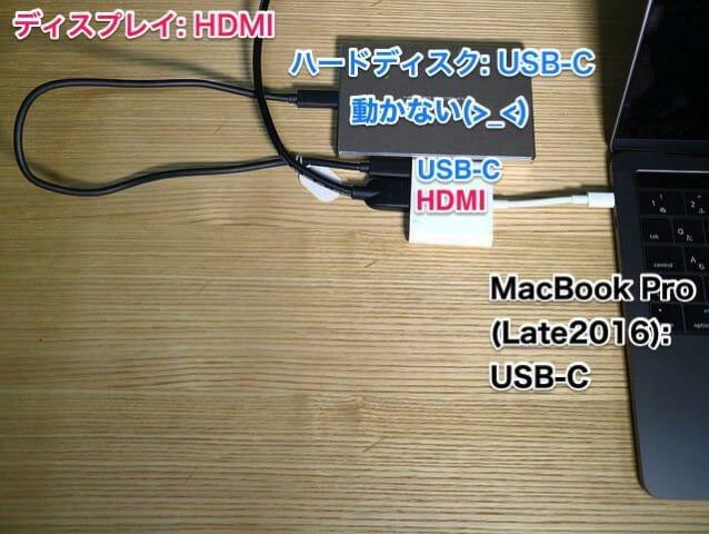 AppleUSB C DigitalAVMultiportAdapter USB CにHDD
