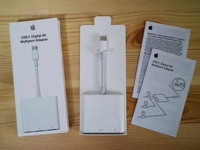 AppleUSB C DigitalAVMultiportAdapter 同梱物