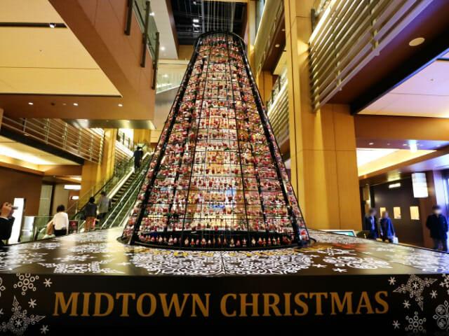 東京ミッドタウン クリスマス2016イルミネーション 7 1サンタツリー