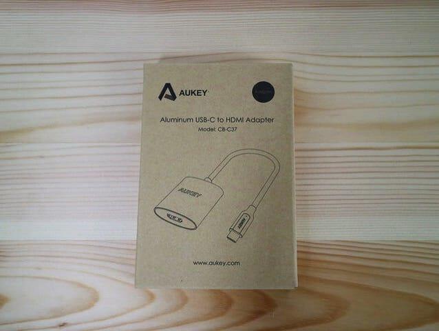 Aukey USB CtoHDMIAdapter パッケージ