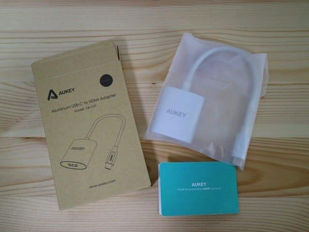 Aukey USB CtoHDMIAdapter 同梱物