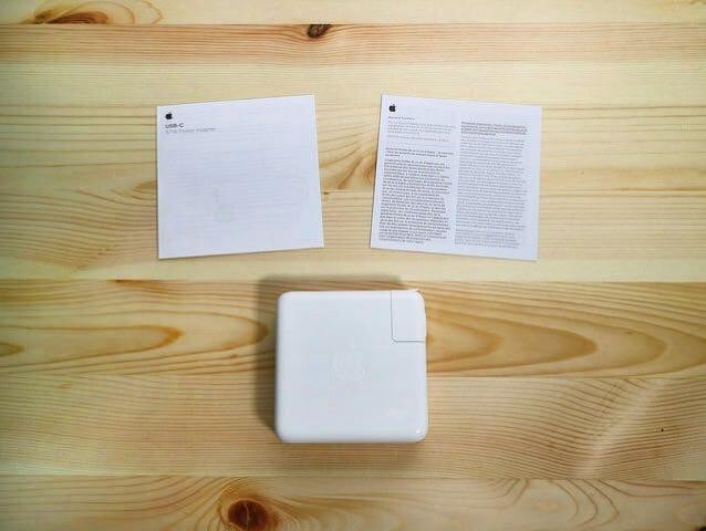 Apple87WUSB C電源アダプタ同梱物