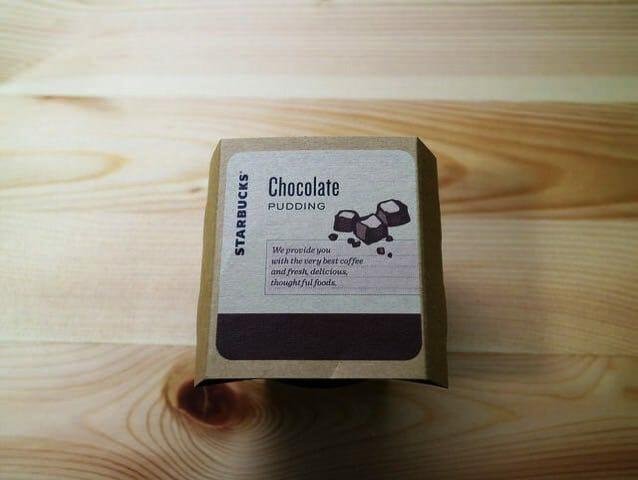 スタバプリン チョコレートラベル