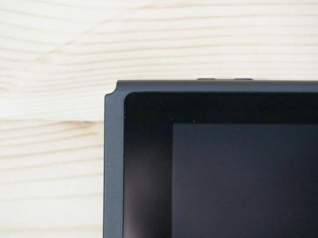 NintendoSwitch専用液晶保護フィルム多機能 完了左上