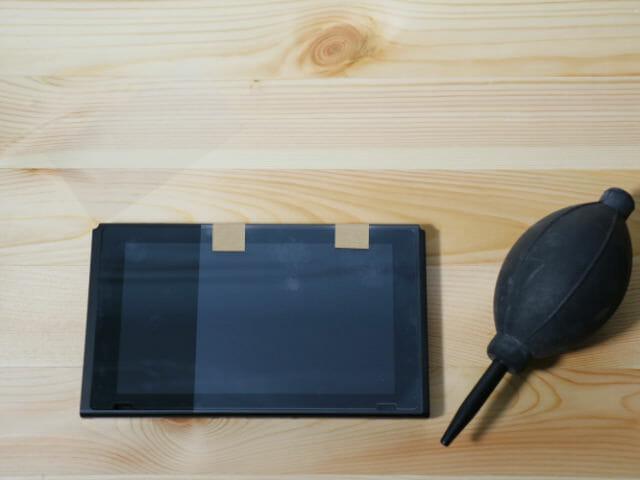 NintendoSwitch専用液晶保護フィルム多機能 半分貼付