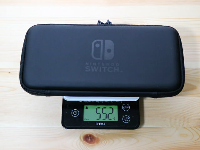 NintendoSwitch専用スマートポーチ ゲーム機込み総重量