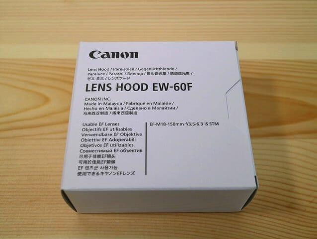 EF M18 150mmF3 5 6 3ISSTM レンズフードEW 60Fパッケージ