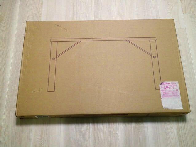 パイン材ローテーブル 折りたたみ式 パッケージ