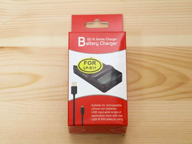 EOSM3用LP E17バッテリーUSB充電器 パッケージ