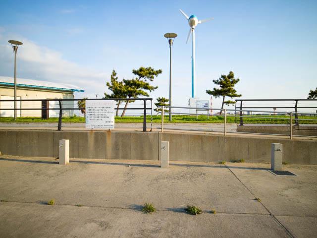 潮干狩り東扇島東公園 人工海浜足洗い場