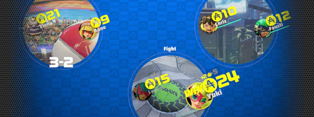 ARMS バトル パティマッチ ARMSファイターの社交場で 気軽に対戦