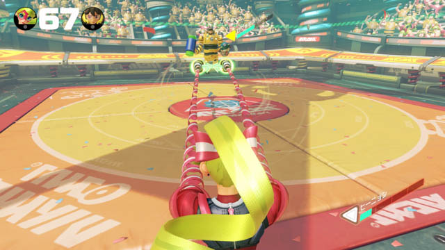 ARMS 体験会 パーティマッチ 2人対戦