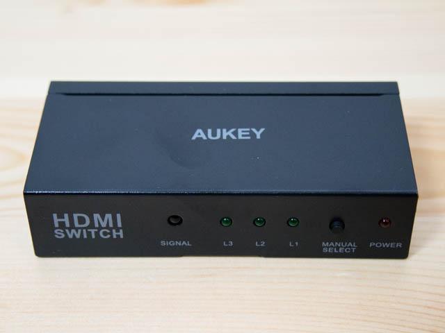 AUKEY HDMI切替機 本体正面