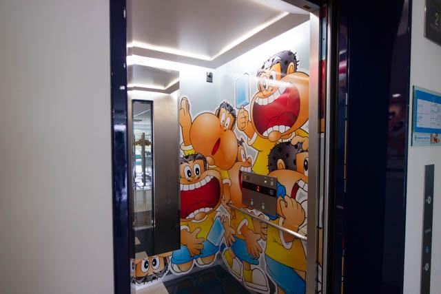 赤城乳業 エレベーター内