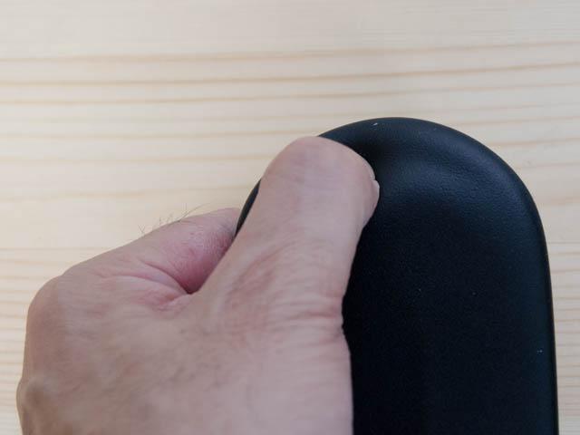 セイルチェア 修理 修理前肘掛け先端部クッション