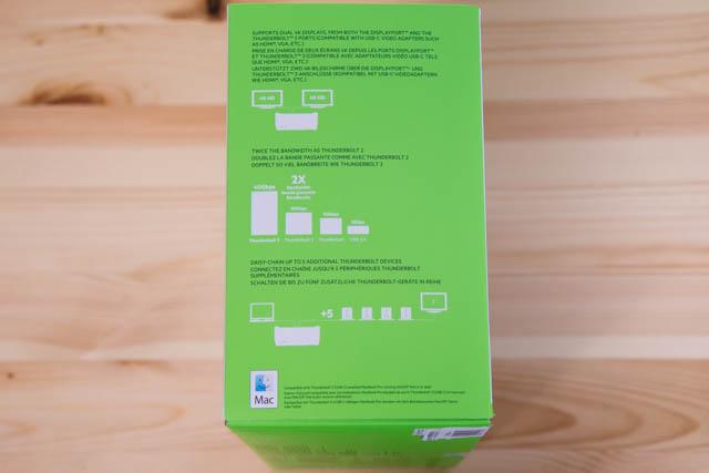 Belkin Thunderbolt3拡張ドック パッケージ側面