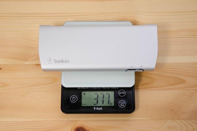 Belkin Thunderbolt3拡張ドック 本体重量