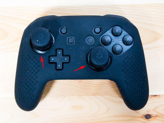 NintendoSwitch プロコンカバー アナログスティックカバー干渉部切断