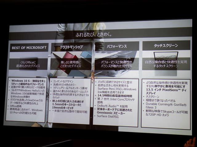 マイクロソフト 新製品Touch Tryイベント SurfaceLaptop概要
