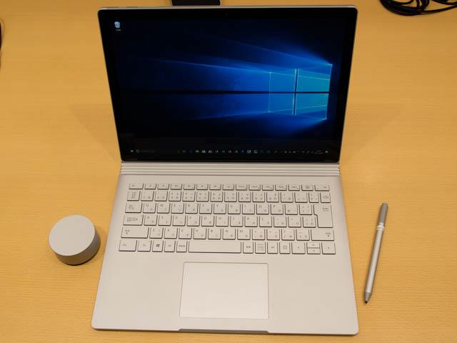 マイクロソフト 新製品Touch Tryイベント SurfaceBook2正面