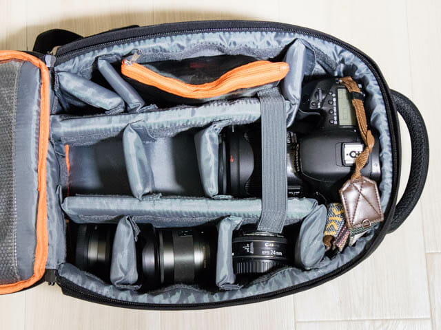 K F Concept カメラバッグ 内部大型カメラ収納