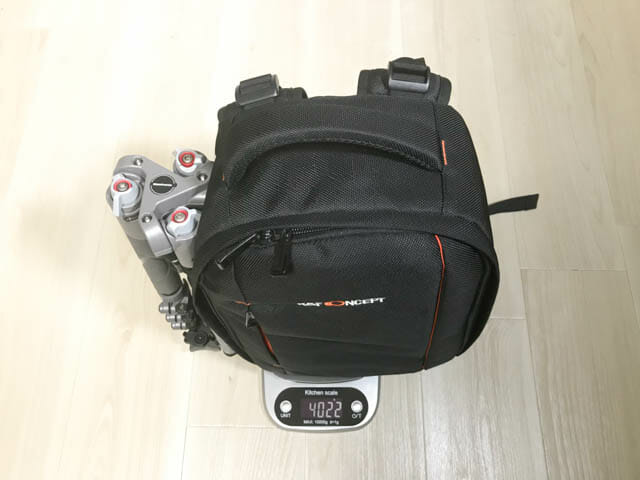 K F Concept カメラバッグ 小型カメラ収納時全重量