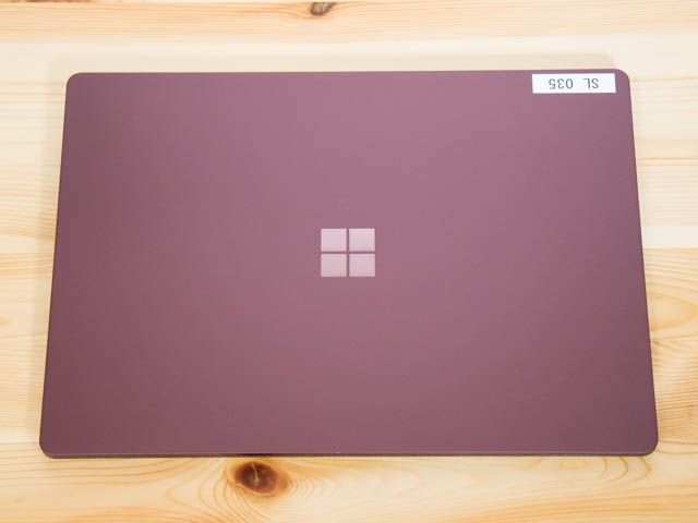 SurfaceLaptop 上面