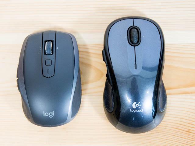 Logicool MX1600s M510比較正面