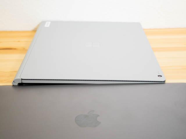 SurfaceBook2 厚さ比較