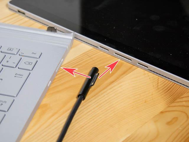 SurfaceBook2 充電ポート