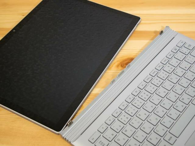 SurfaceBook2 分離