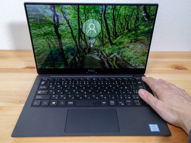 DELL XPS13 指紋顔認証