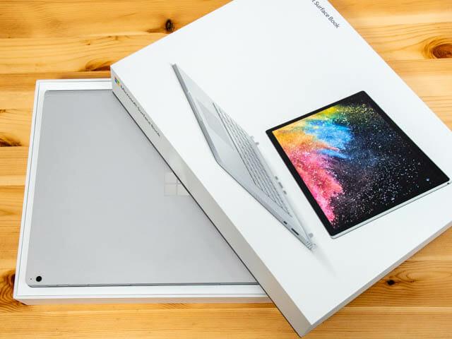 SurfaceBook2 15inch 開封